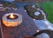 Backyard Firepit and Landscaping