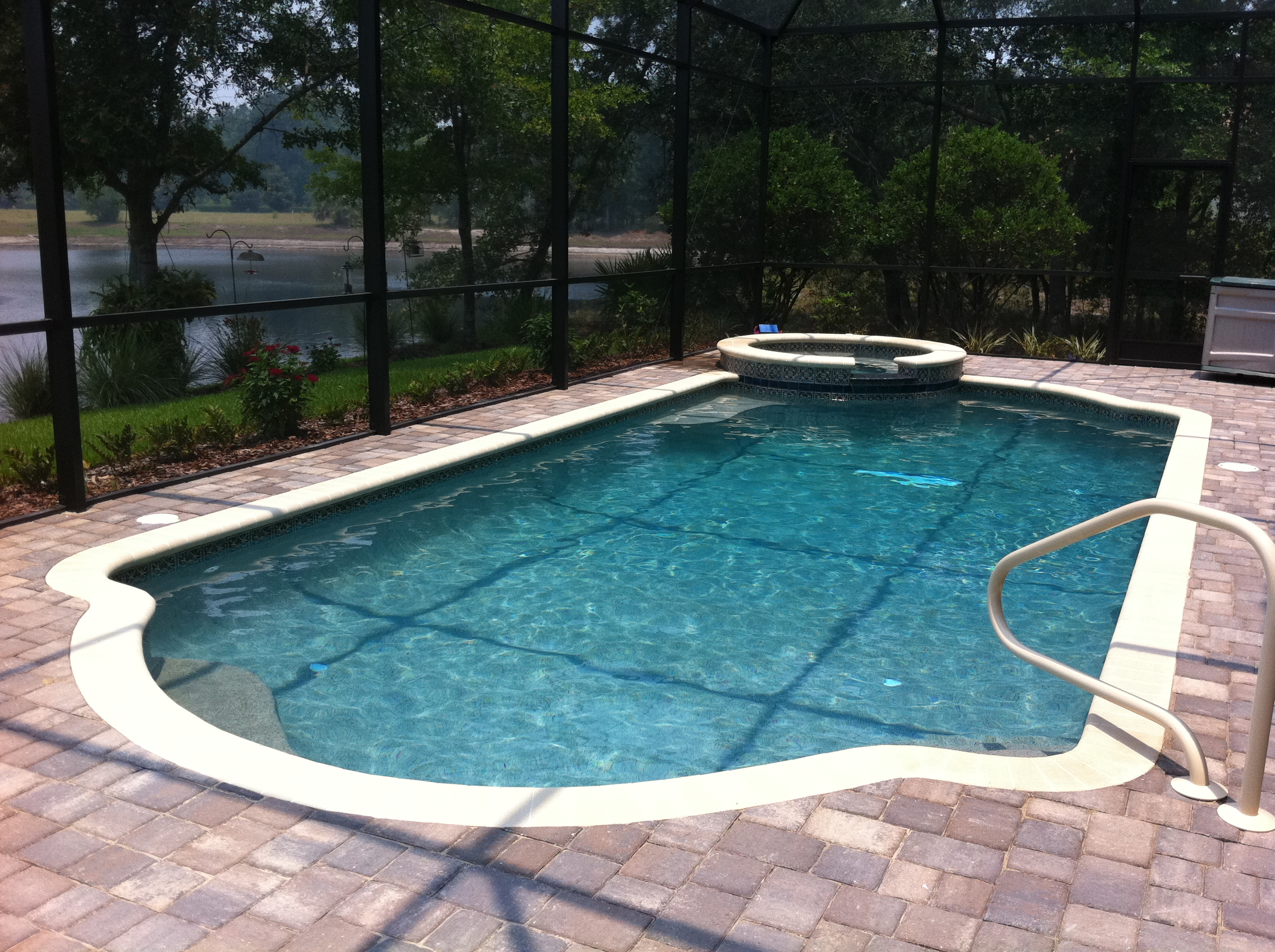 Swimming pool and spa photos jacksonville atlantic beach for Pool design jacksonville fl