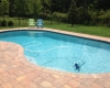 Freeform Pool  Brick Paver Decking
