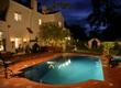 Night Lighting Effects on Traditional Backyard Pool