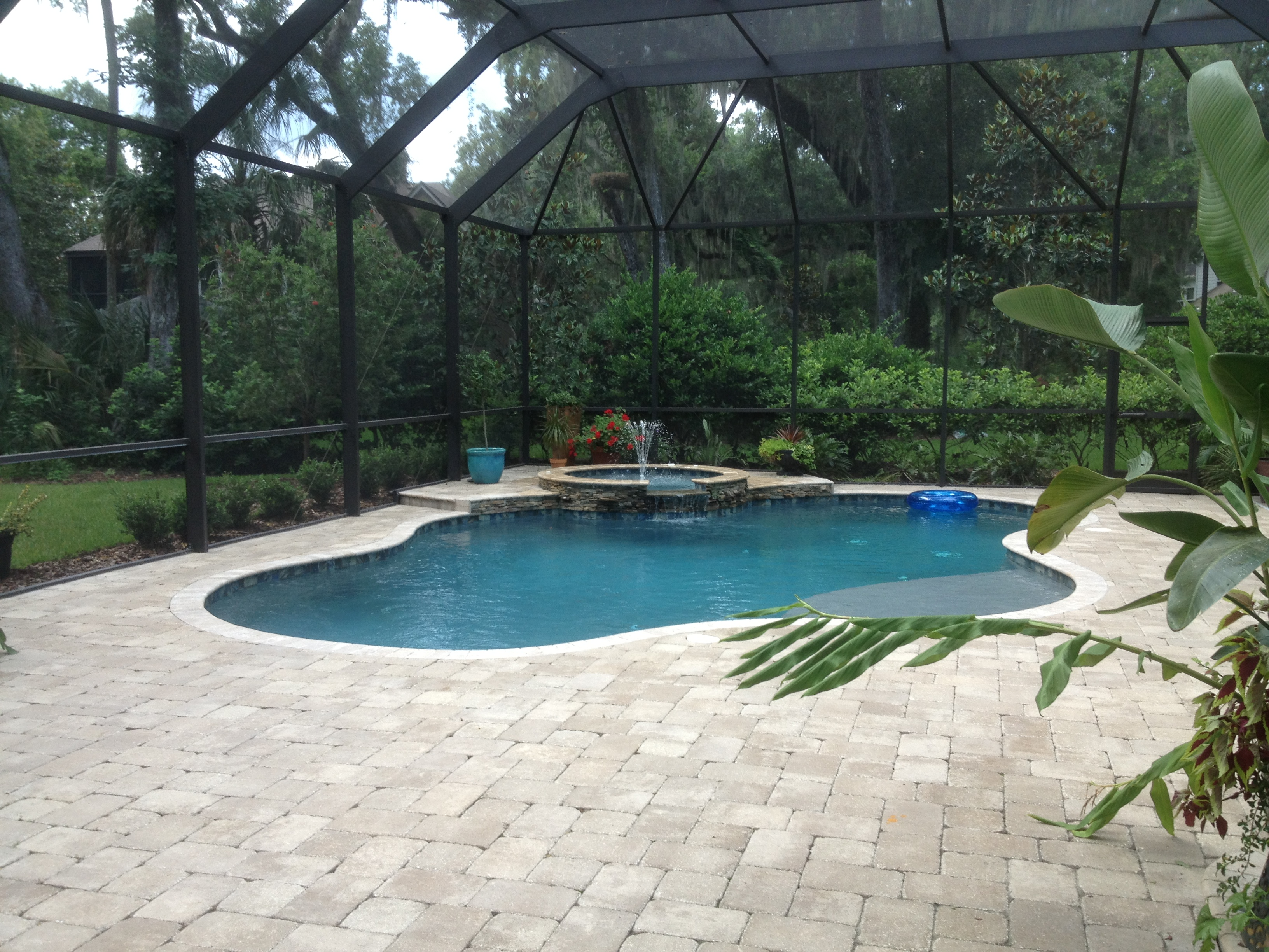Swimming pool and spa photo gallery jacksonville middleburg for Pools for your backyard